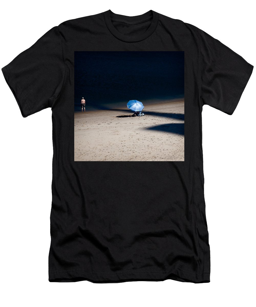 Beach Men's T-Shirt (Athletic Fit) featuring the photograph On The Beach by Dave Bowman