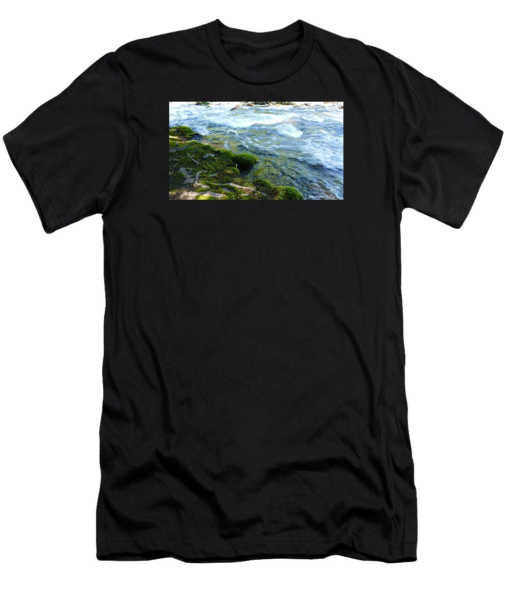 Ron Glaser Men's T-Shirt (Athletic Fit) featuring the photograph On The Edge 3 by Ron Glaser
