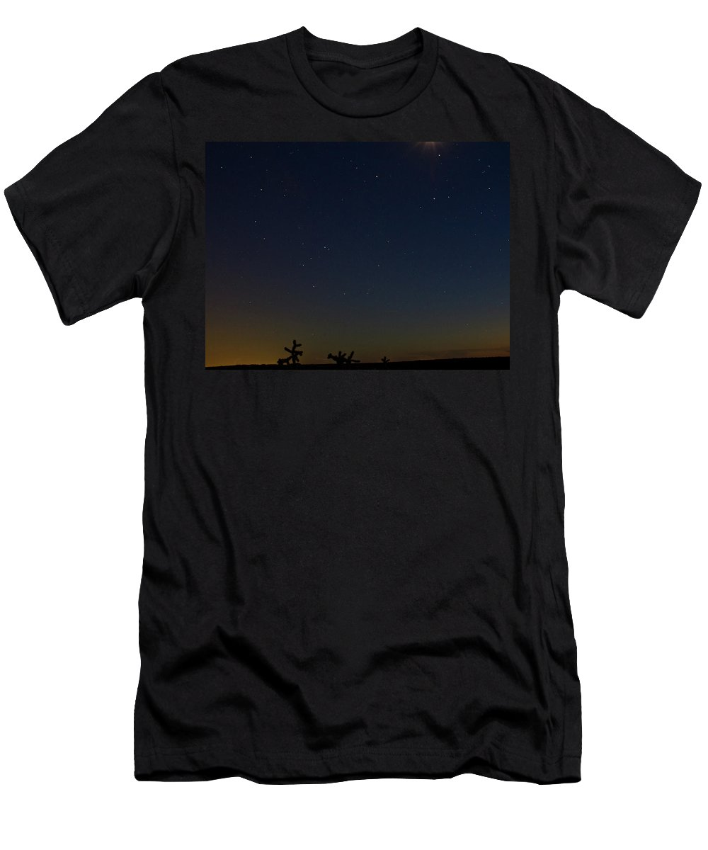 Men's T-Shirt (Athletic Fit) featuring the photograph On The Horizon by Keith Peacock