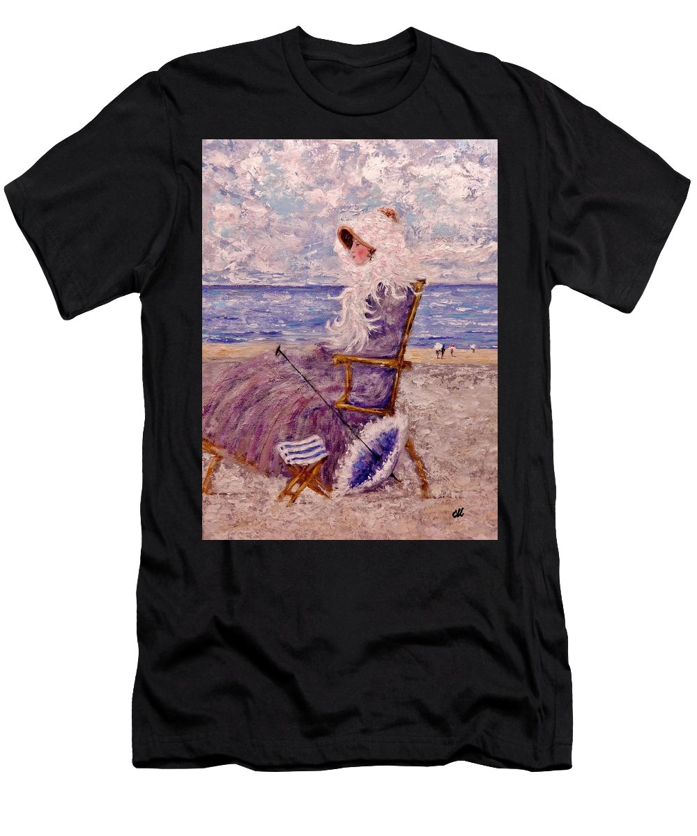 Portrait Men's T-Shirt (Athletic Fit) featuring the painting Once Upon A Time II by Cristina Mihailescu
