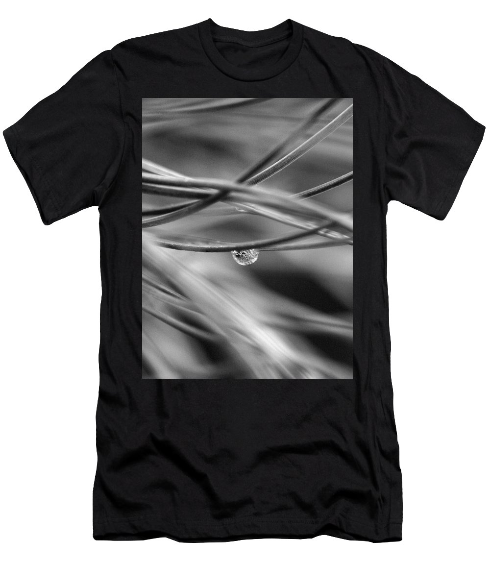 One Men's T-Shirt (Athletic Fit) featuring the photograph One Drop by Marilyn Hunt