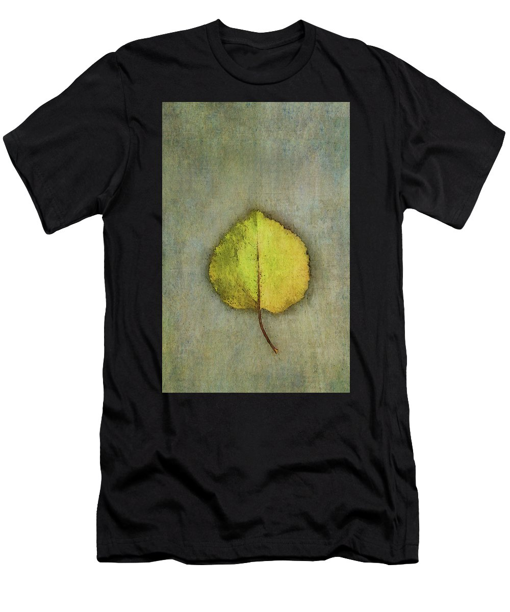 Photography Men's T-Shirt (Athletic Fit) featuring the digital art One Leaf Beauty by Terry Davis