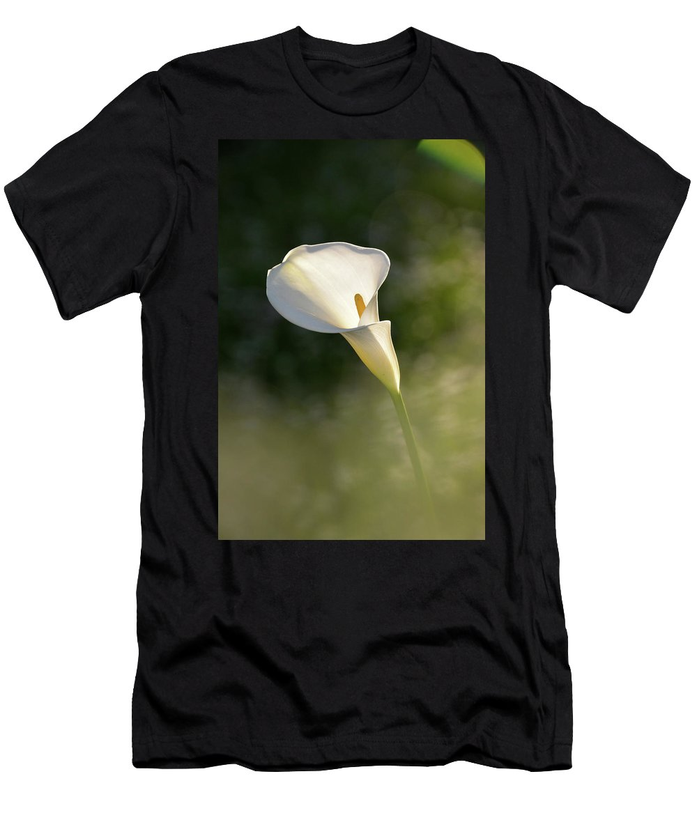 Flower Men's T-Shirt (Athletic Fit) featuring the photograph One. by Mirza Cengic