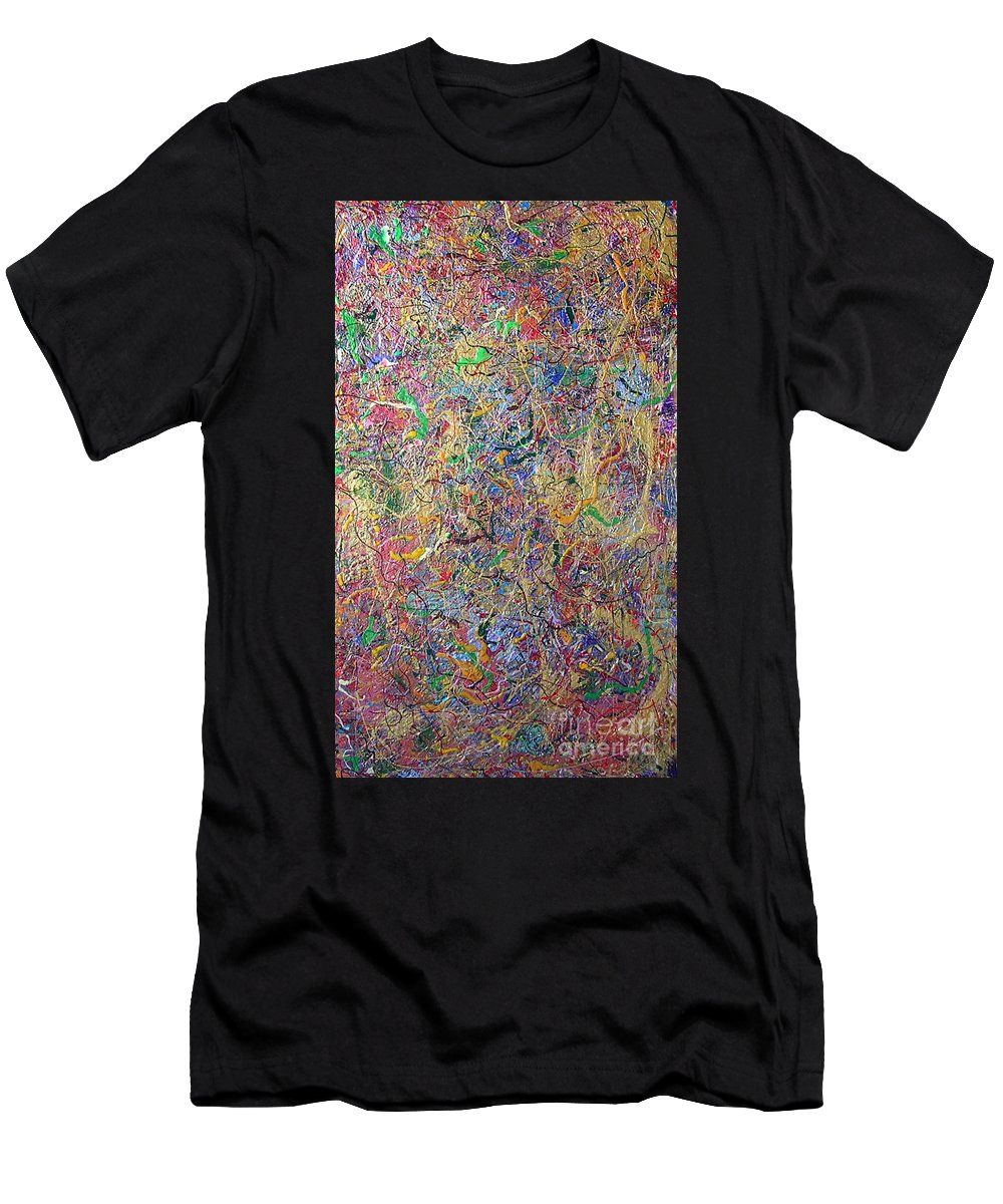 One Moment In Time Men's T-Shirt (Athletic Fit) featuring the painting One Moment In Time by Dawn Hough Sebaugh