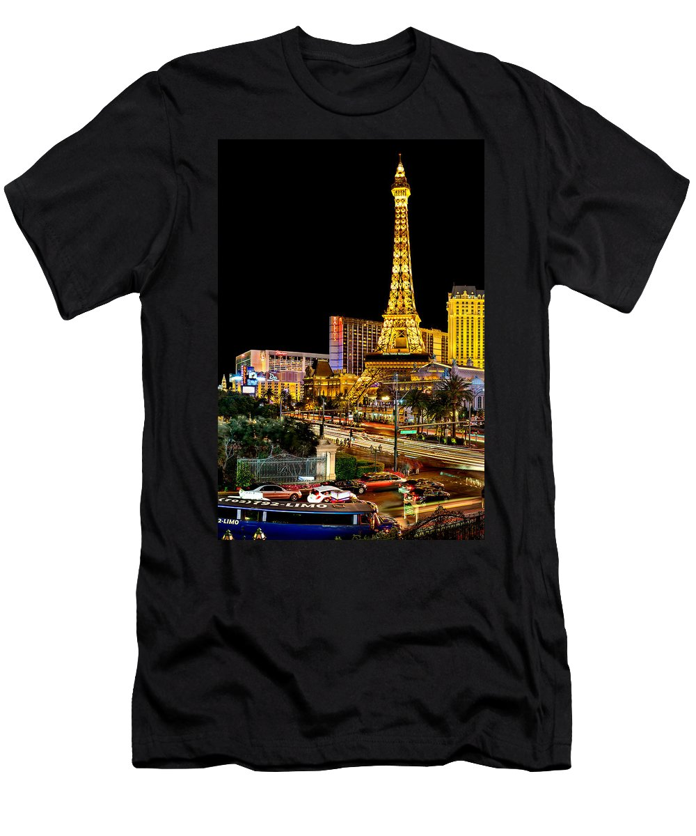 Las Vegas T-Shirt featuring the photograph One Night In Vegas by Az Jackson