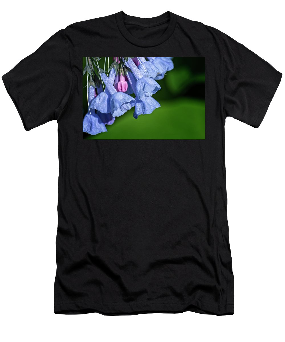 Bluebells Men's T-Shirt (Athletic Fit) featuring the photograph One Pink Bell by Lawrence Golla