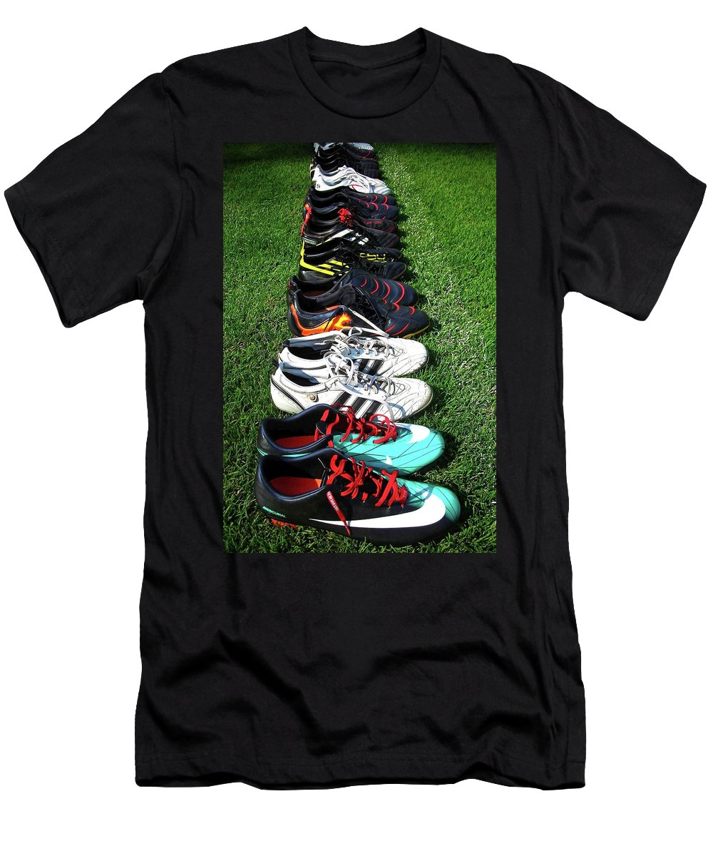Soccer Men's T-Shirt (Athletic Fit) featuring the photograph One Team ... by Juergen Weiss