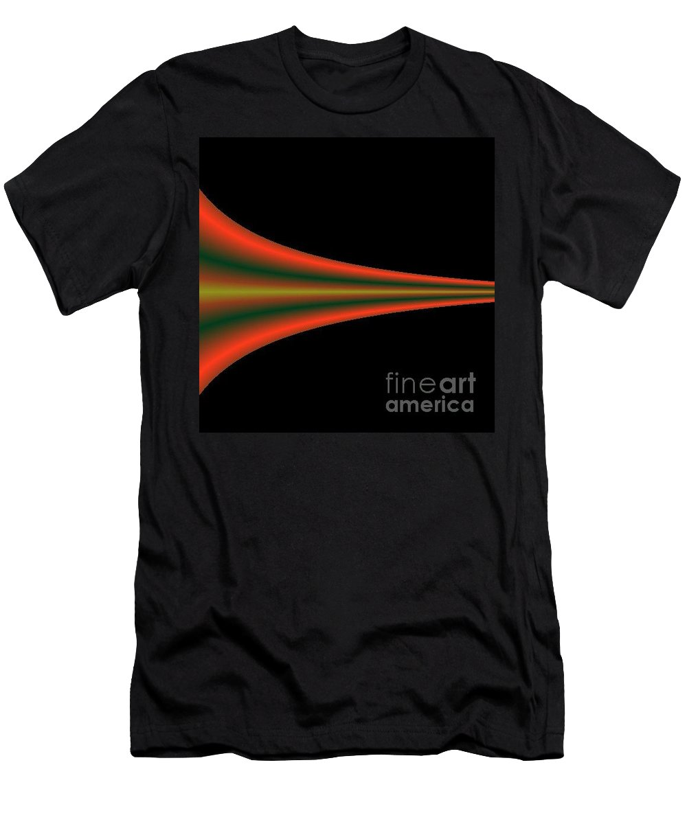 Digital Art Men's T-Shirt (Athletic Fit) featuring the digital art One Way IIi by Dragica Micki Fortuna