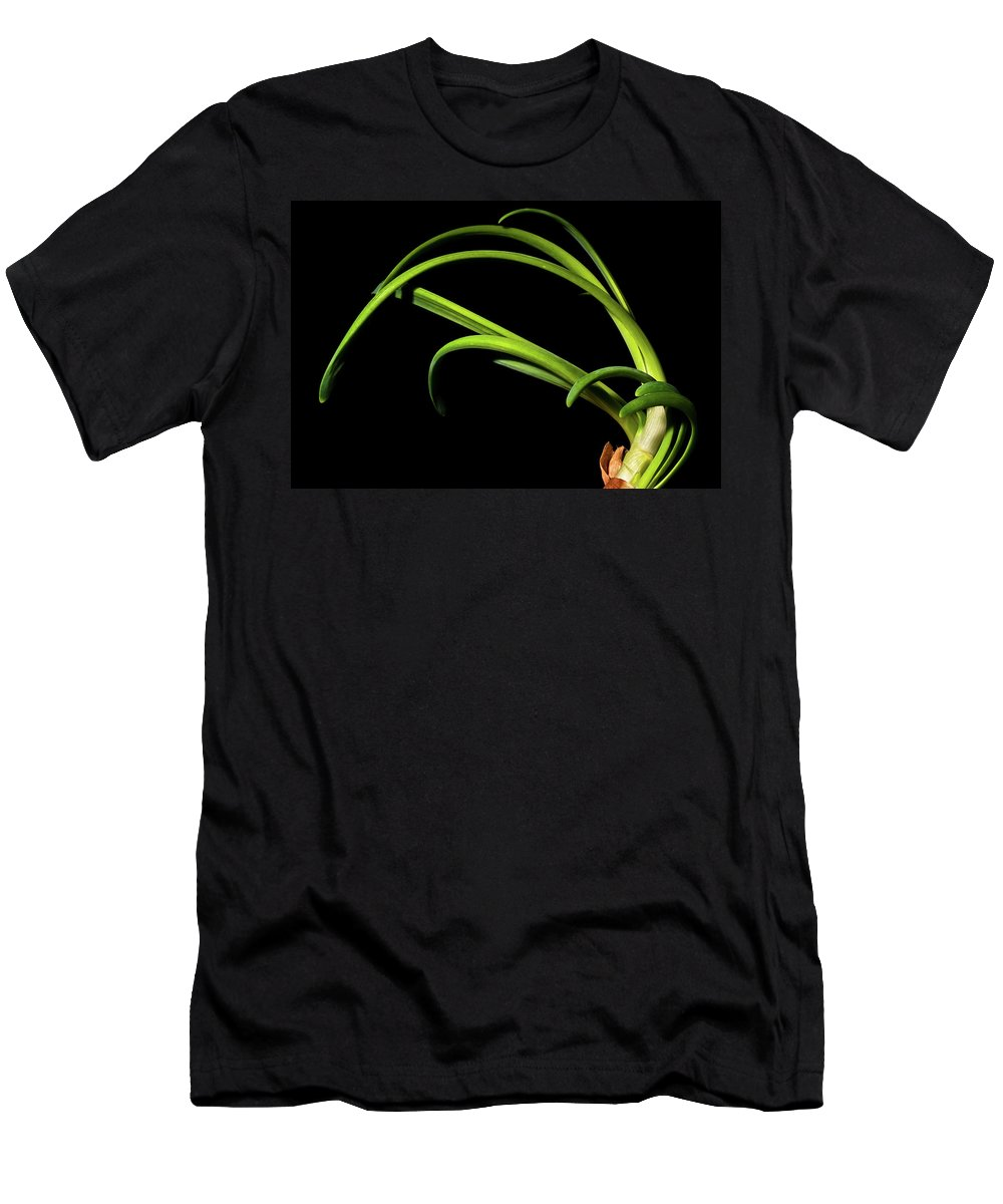 Onion Greens Men's T-Shirt (Athletic Fit) featuring the photograph Onion Greens by Onyonet Photo Studios