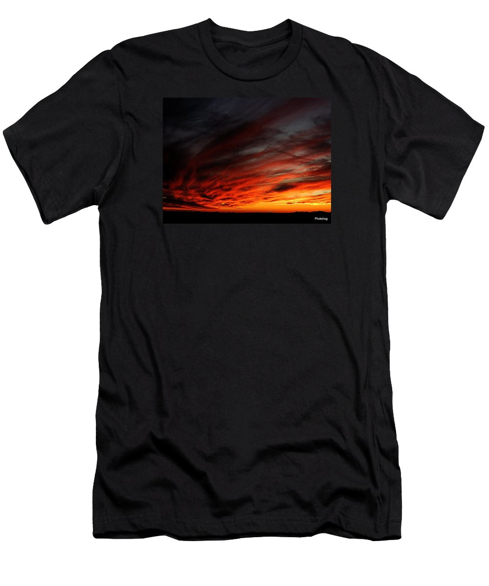 Sunset T-Shirt featuring the photograph Only In The Desert by Adam Jones