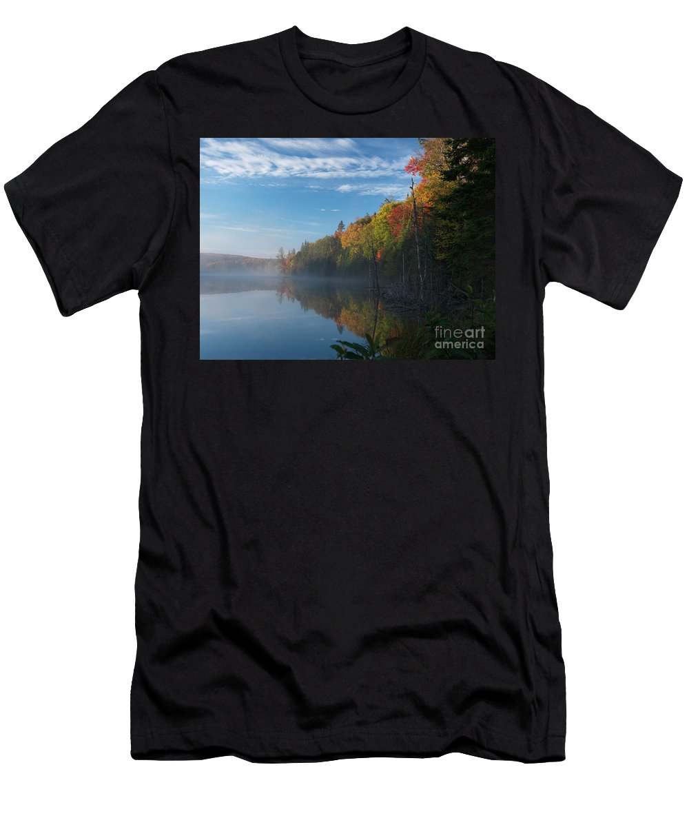 Lake Men's T-Shirt (Athletic Fit) featuring the photograph Ontario Autumn Scenery by Oleksiy Maksymenko