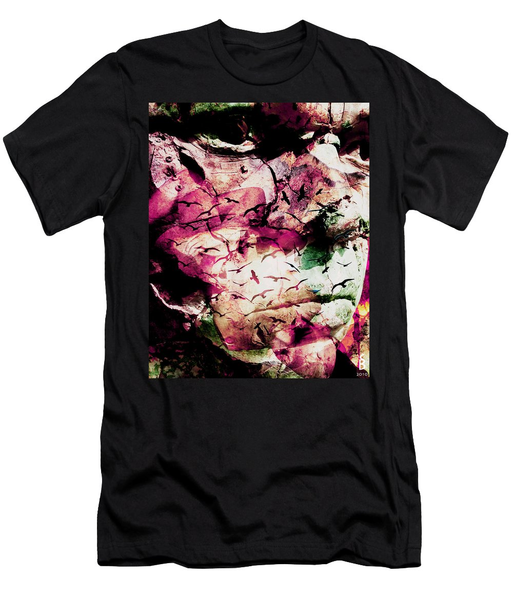 On Your Mind Men's T-Shirt (Athletic Fit) featuring the digital art Onyourmind by Sitara Bruns