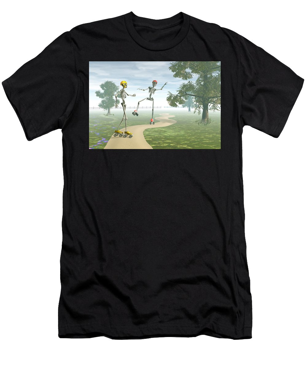 Bones Men's T-Shirt (Athletic Fit) featuring the digital art Ooops  by Carol and Mike Werner