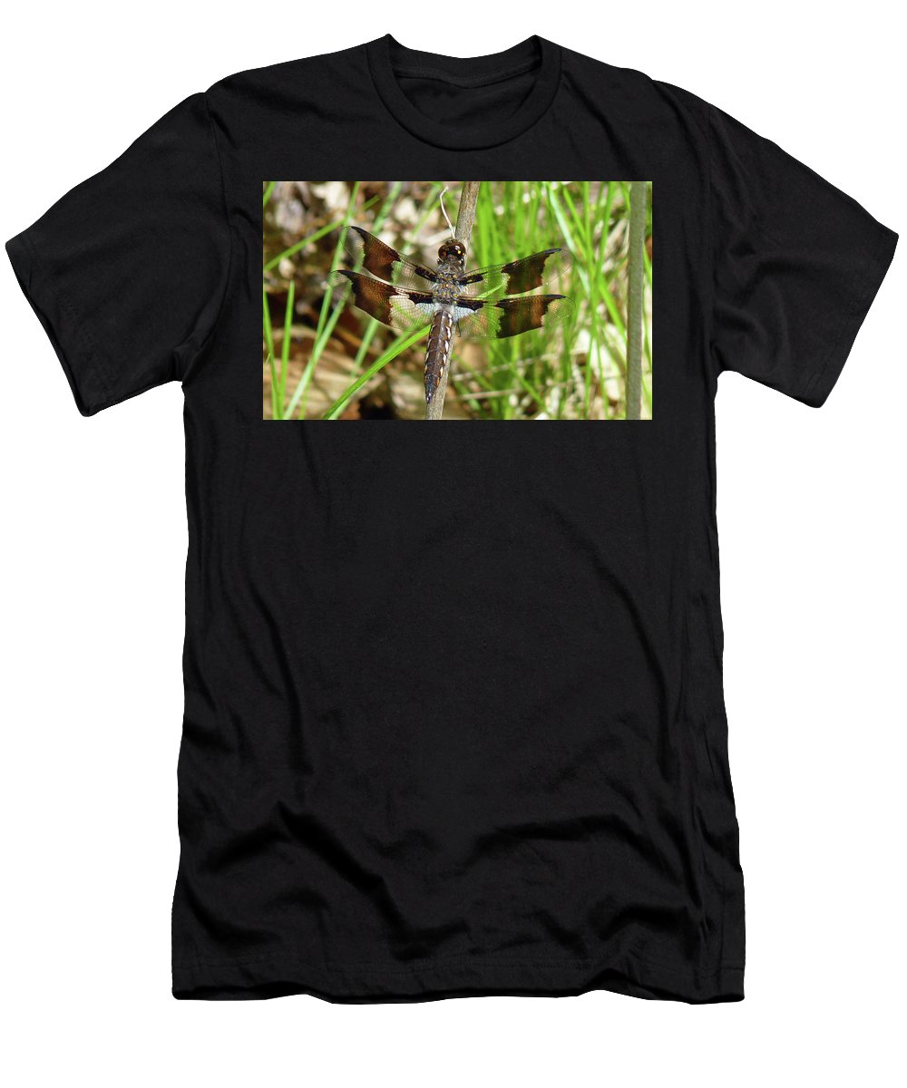 Dragonfly Men's T-Shirt (Athletic Fit) featuring the photograph Oops...a Better One by Donjoe Mitchell