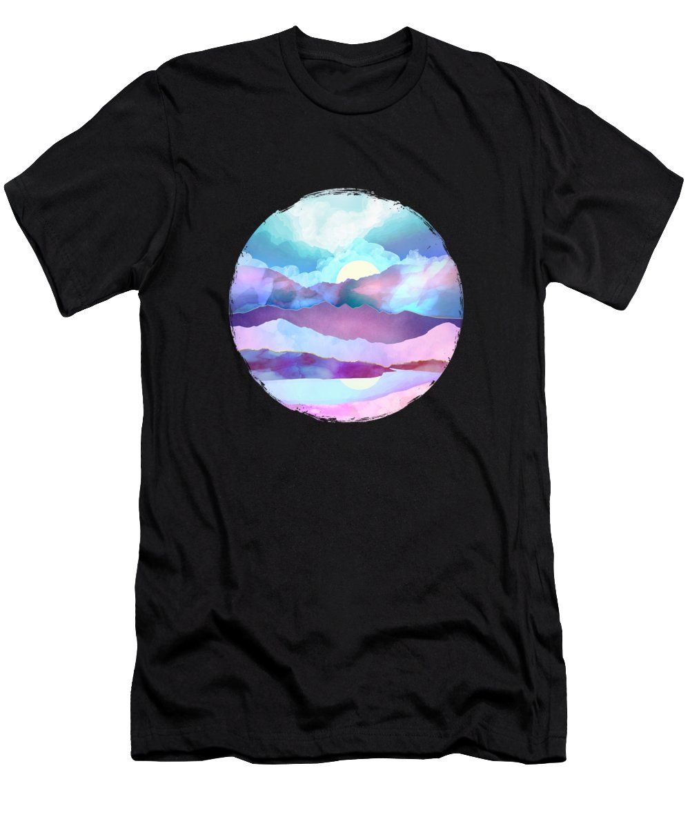 Opal T-Shirt featuring the digital art Opal Mountains by Spacefrog Designs