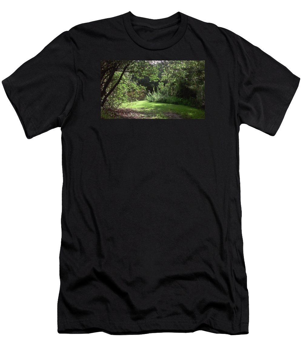 Fields Men's T-Shirt (Athletic Fit) featuring the photograph Open Field by Elsie Figuora