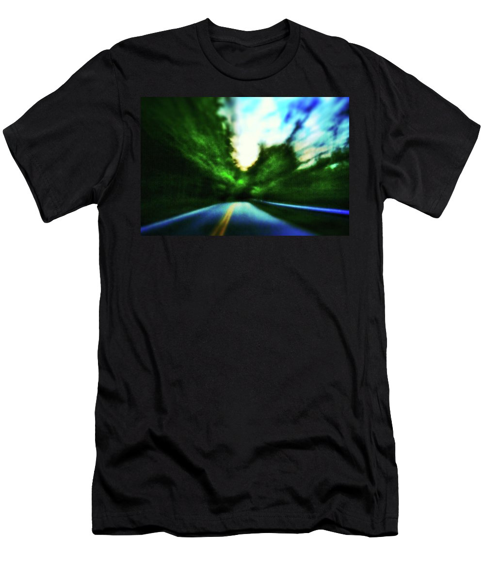 Pinhole Men's T-Shirt (Athletic Fit) featuring the photograph Open Road by Al Harden