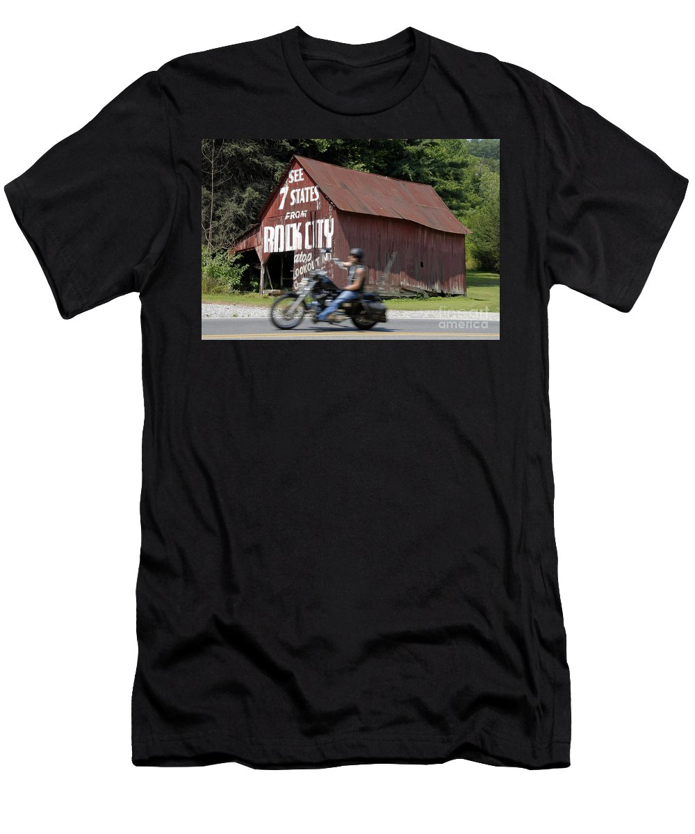 Motorcycle Men's T-Shirt (Athletic Fit) featuring the photograph Open Road by David Lee Thompson