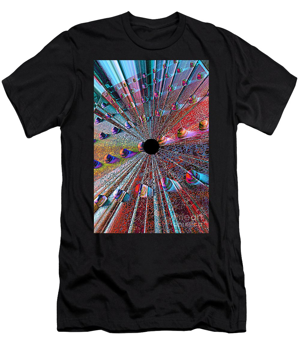 Abstract Men's T-Shirt (Athletic Fit) featuring the photograph Opening To The Future by Carol Groenen