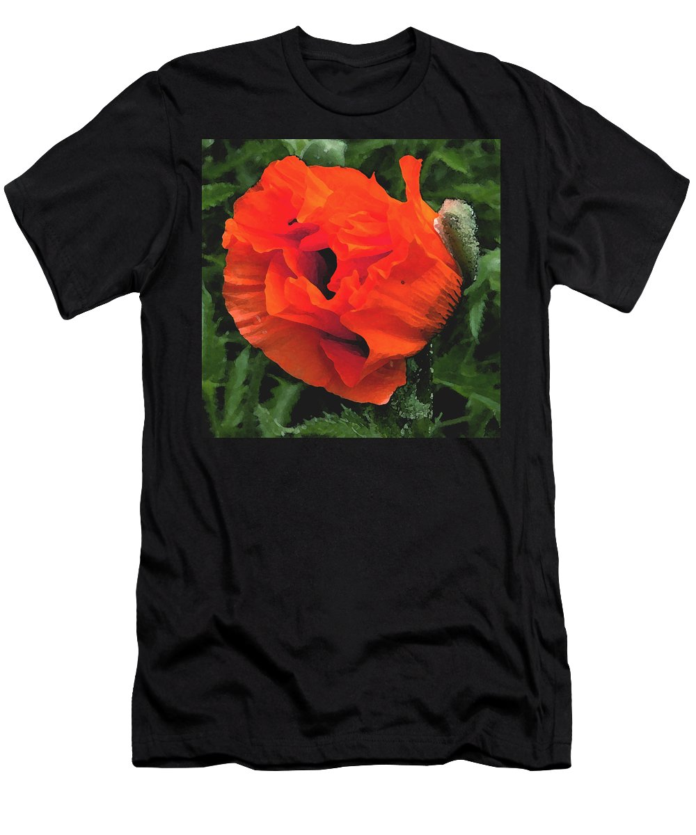 Opium Poppy Men's T-Shirt (Athletic Fit) featuring the photograph Opium by Heather Lennox