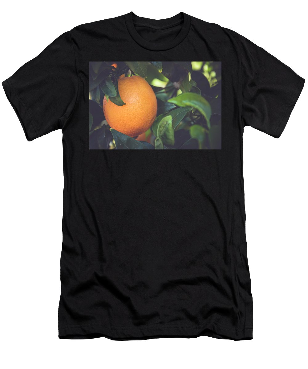 Nature Men's T-Shirt (Athletic Fit) featuring the photograph Orange #3 by Ignacio Leal Orozco