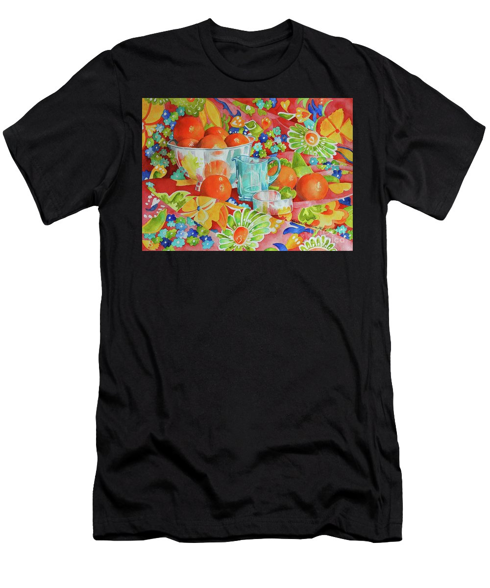 Kitchen Men's T-Shirt (Athletic Fit) featuring the painting Orange Appeal by Kristen Anderson Hill