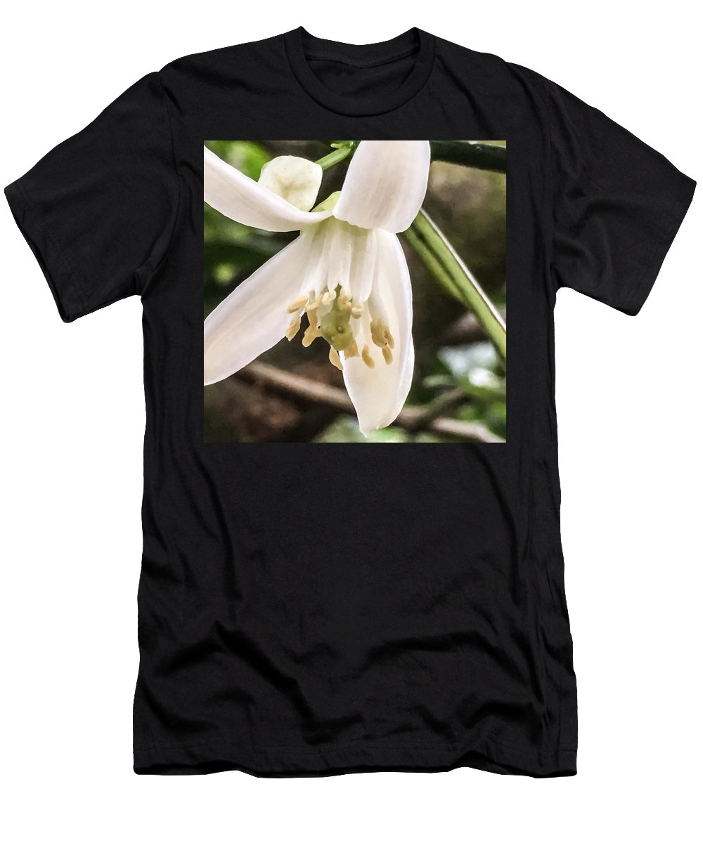 Flowers Men's T-Shirt (Athletic Fit) featuring the photograph Orange Blossoms #2 by Denise DuFresne