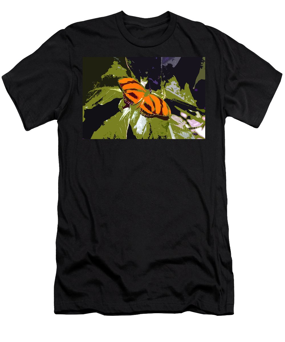 Butterfly Men's T-Shirt (Athletic Fit) featuring the photograph Orange Butterfly by David Lee Thompson