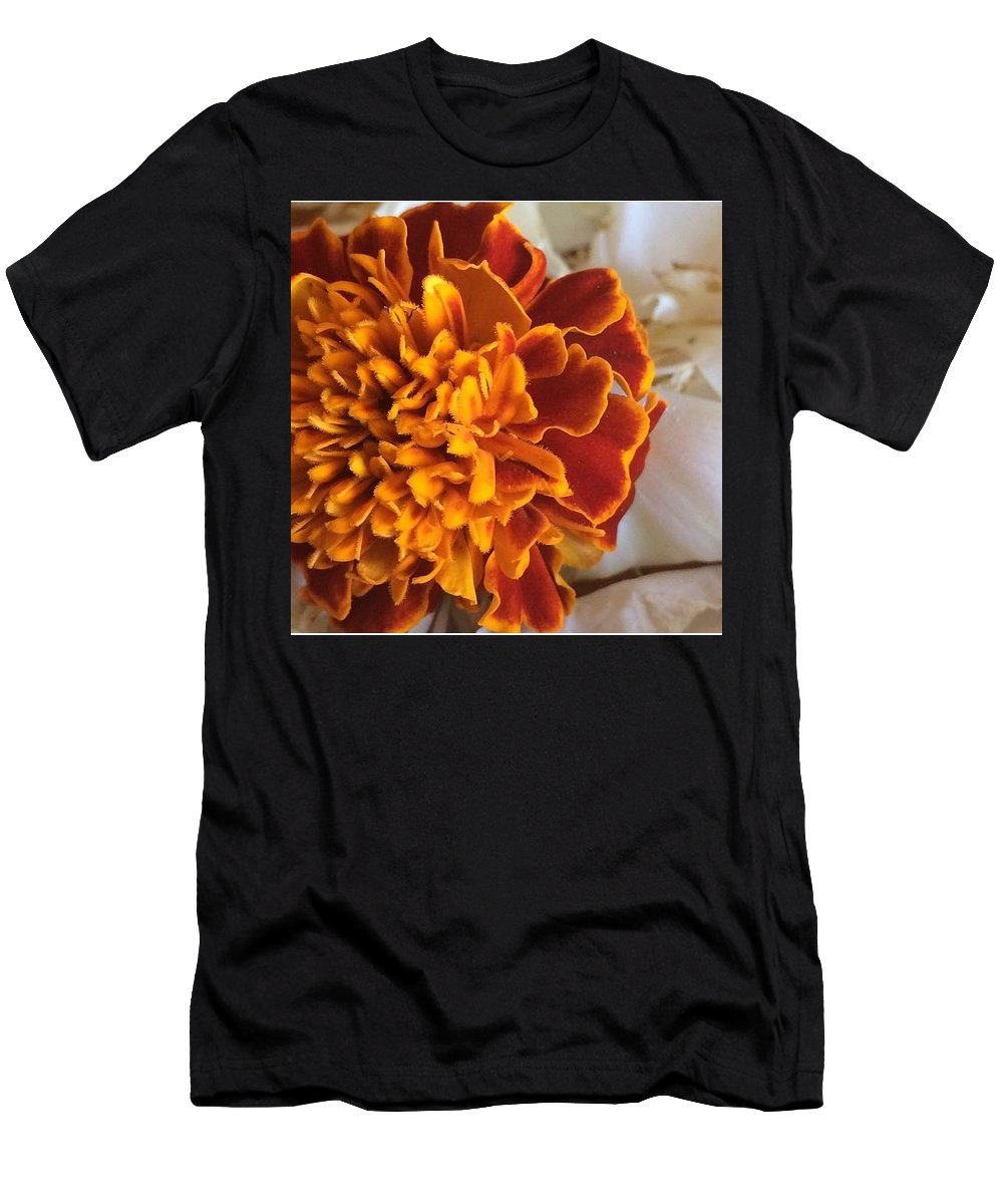 Orange Men's T-Shirt (Athletic Fit) featuring the photograph Orange Flower by Tyler Knorr