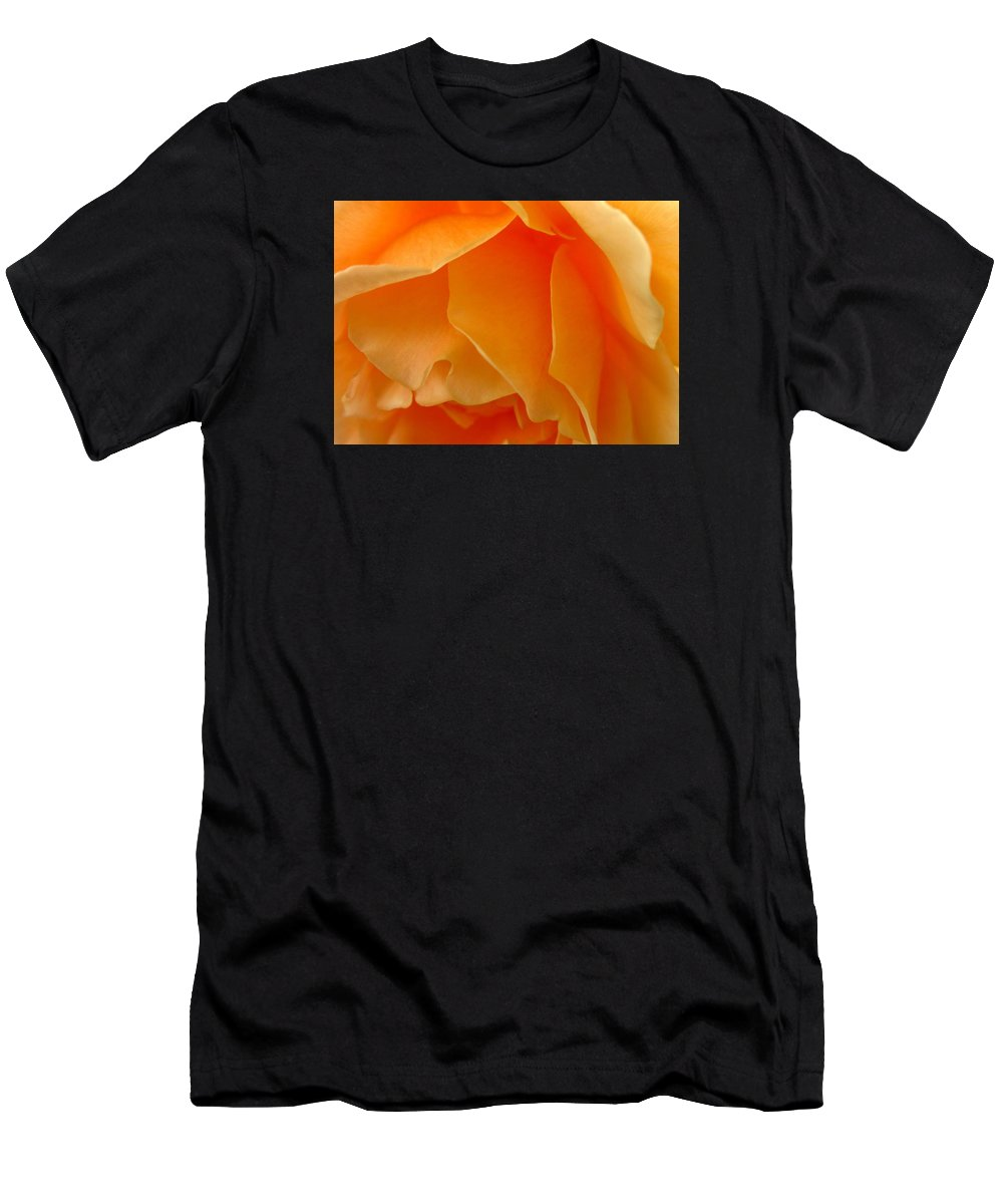 Men's T-Shirt (Athletic Fit) featuring the photograph Orange Rose Side View by Miss McLean