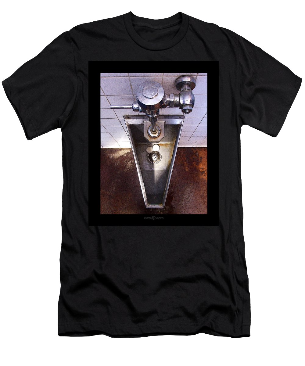 Urinal Men's T-Shirt (Athletic Fit) featuring the photograph Orcas Island Urinal by Tim Nyberg