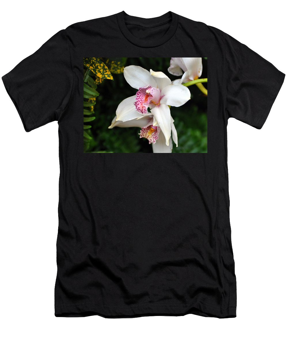Flower Men's T-Shirt (Athletic Fit) featuring the photograph Orchid 29 by Marty Koch