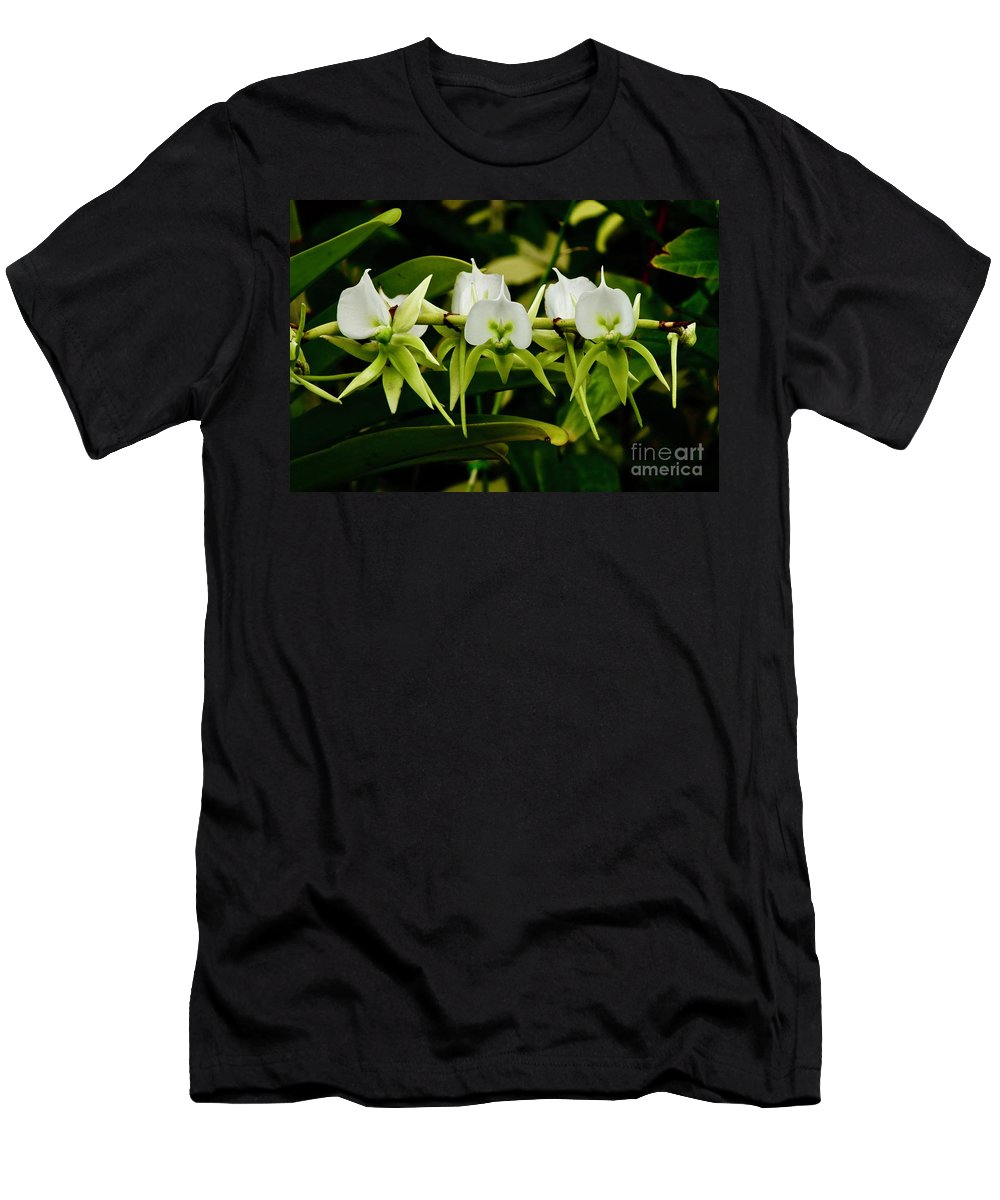 Orchids Men's T-Shirt (Athletic Fit) featuring the photograph Orchid Choir by Craig Wood