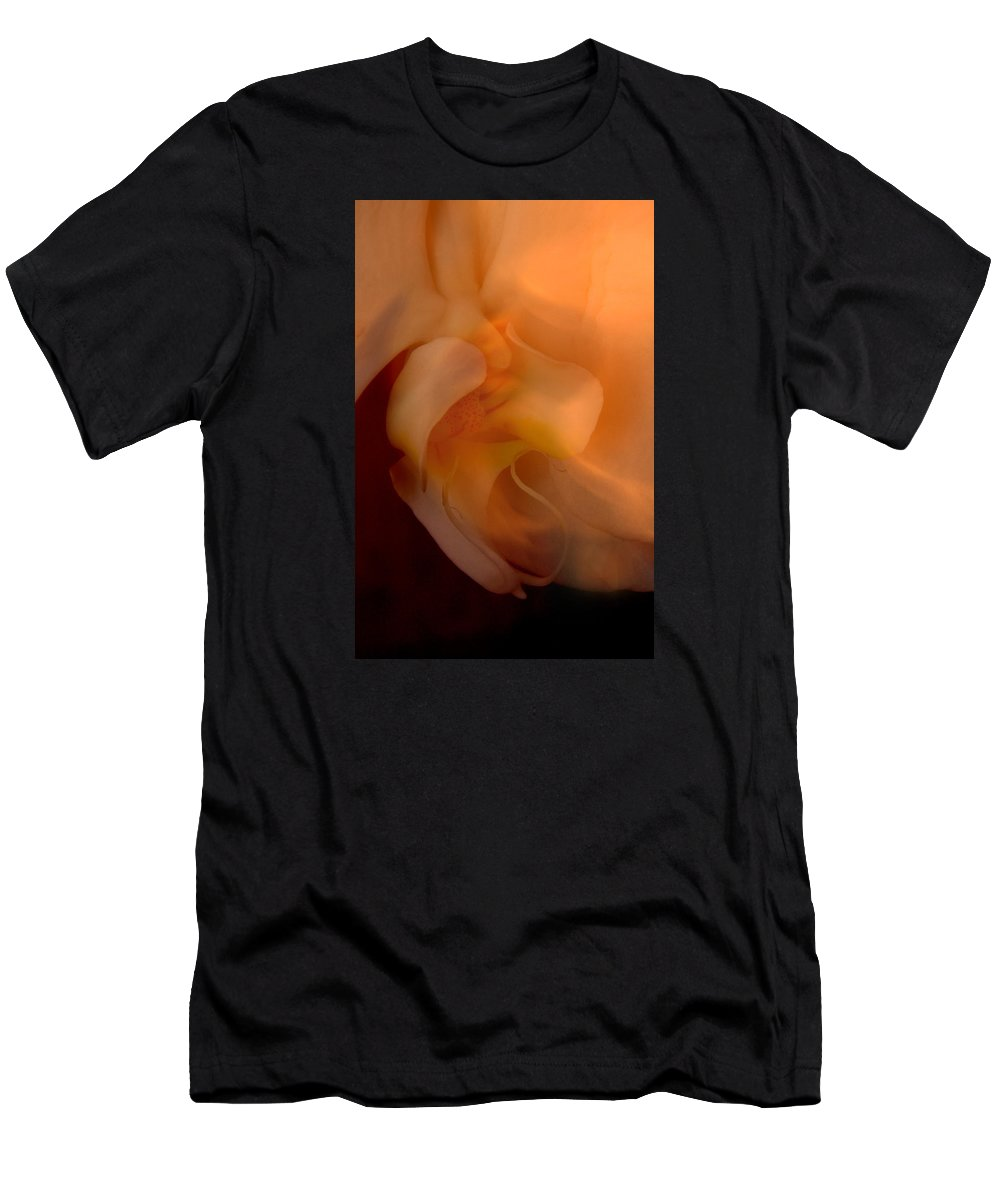 Orchid Men's T-Shirt (Athletic Fit) featuring the photograph Orchid Detail by Michael Ziegler