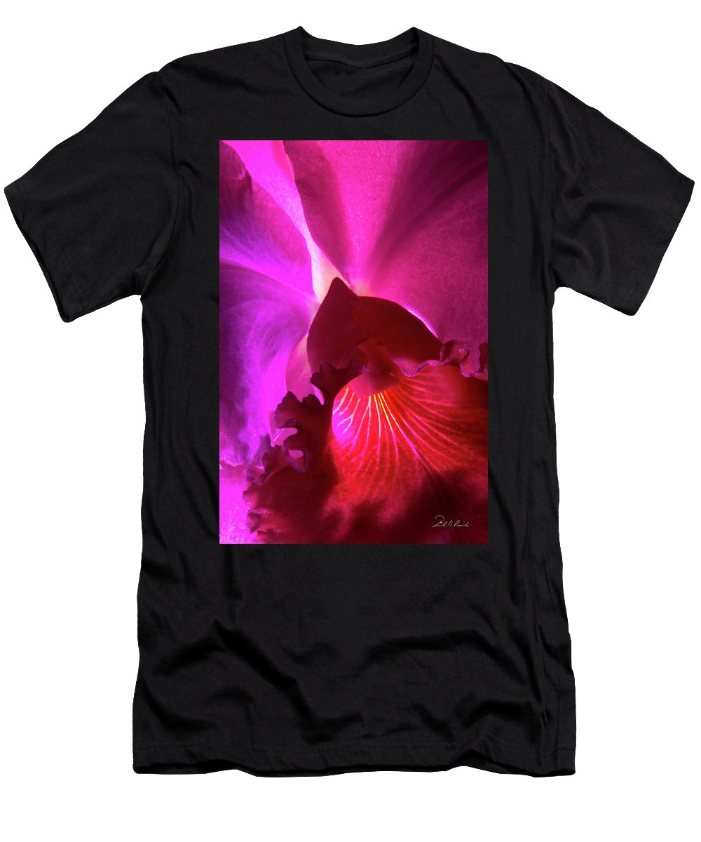 Photography Men's T-Shirt (Athletic Fit) featuring the photograph Orchid Landscape by Frederic A Reinecke