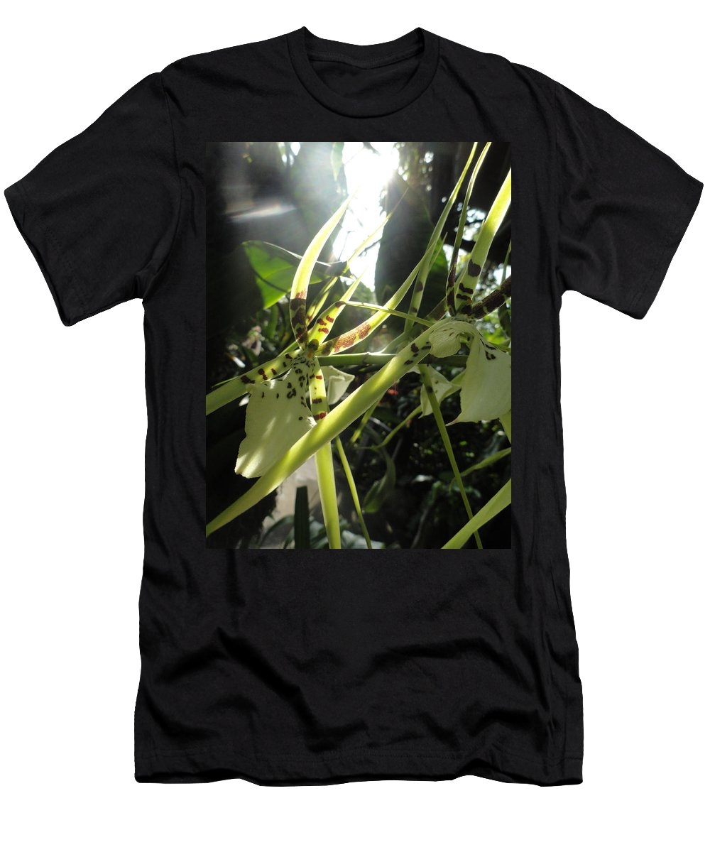 Orchid Men's T-Shirt (Athletic Fit) featuring the photograph Orchid Light by Trish Hale