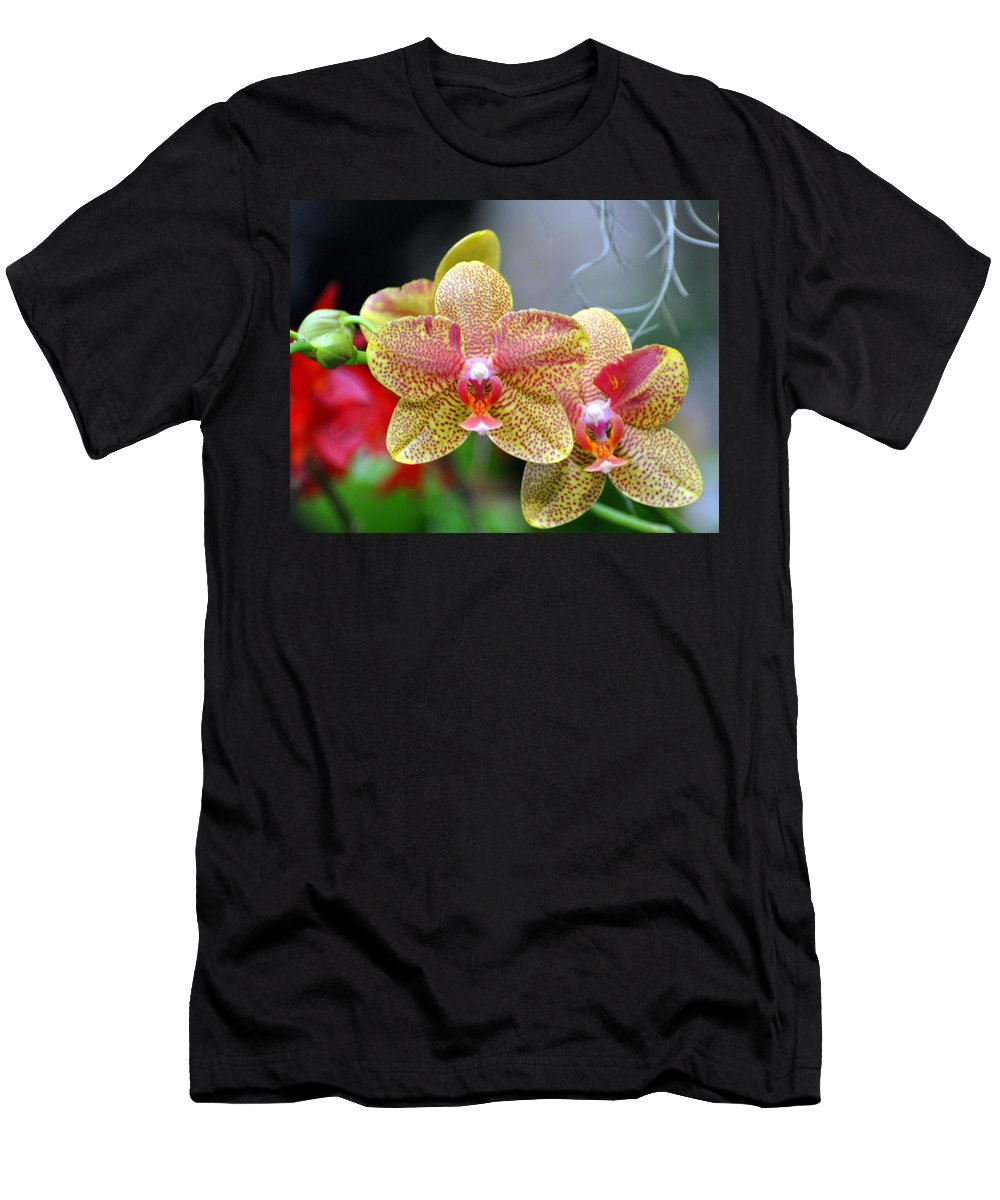 Orchidsflowers Men's T-Shirt (Athletic Fit) featuring the photograph Orchids 35 by Marty Koch