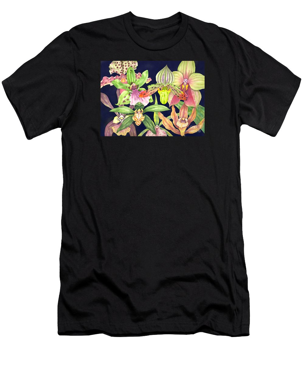 Orchids T-Shirt featuring the painting Orchids by Lucy Arnold