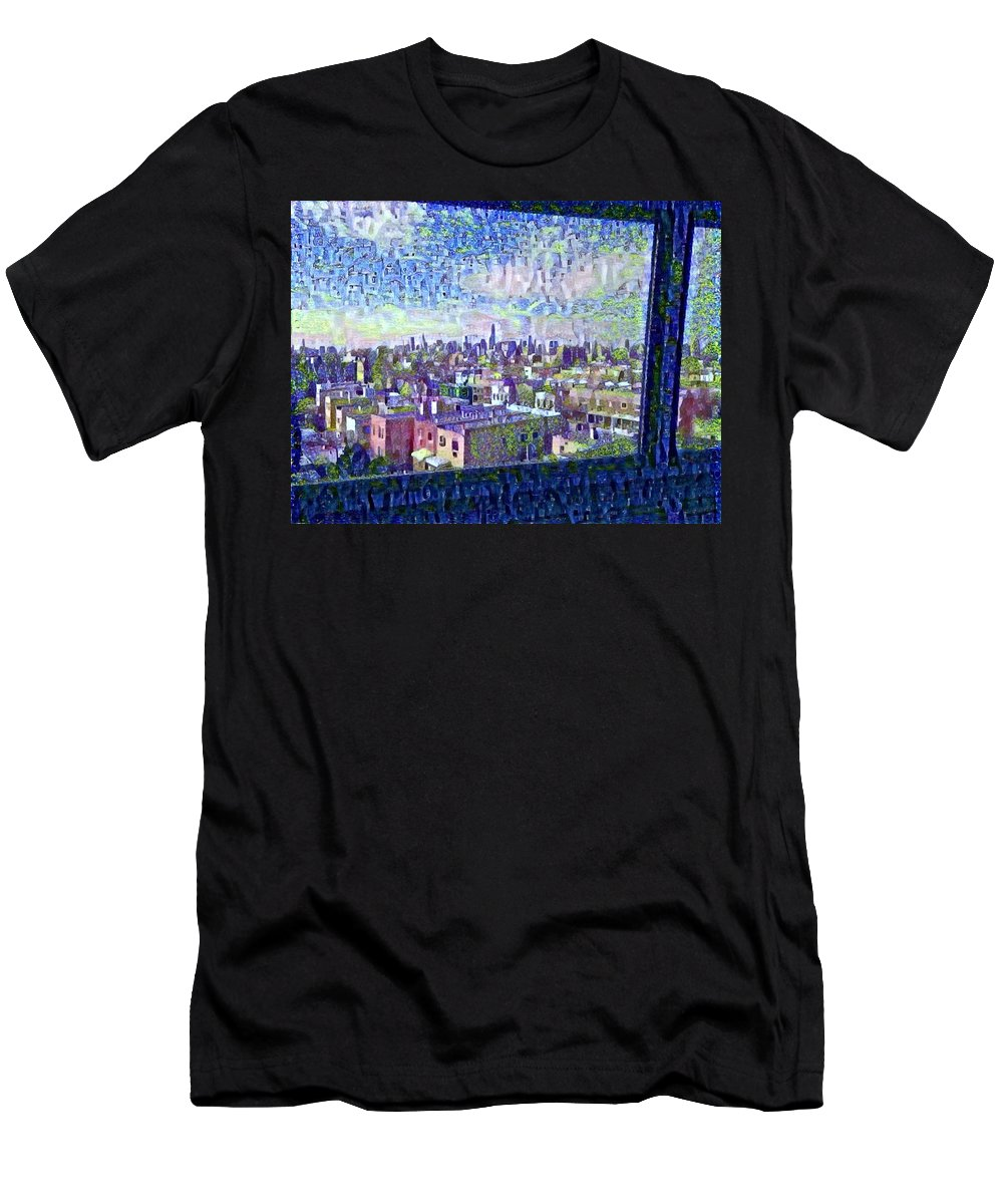 Men's T-Shirt (Athletic Fit) featuring the mixed media Ordinary Day For Trains by Zachary Mueller