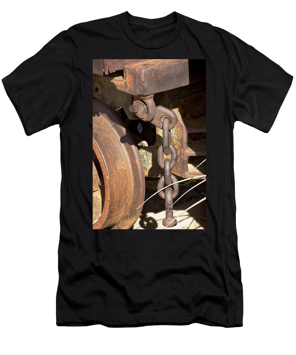 Chain Men's T-Shirt (Athletic Fit) featuring the photograph Ore Car Chain by Phyllis Denton