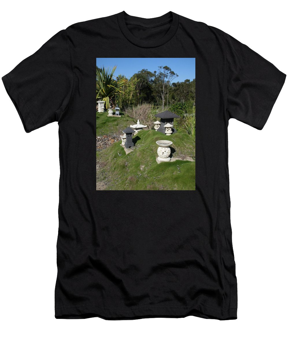 Oriental Men's T-Shirt (Athletic Fit) featuring the photograph Oriental Garden by Nat S