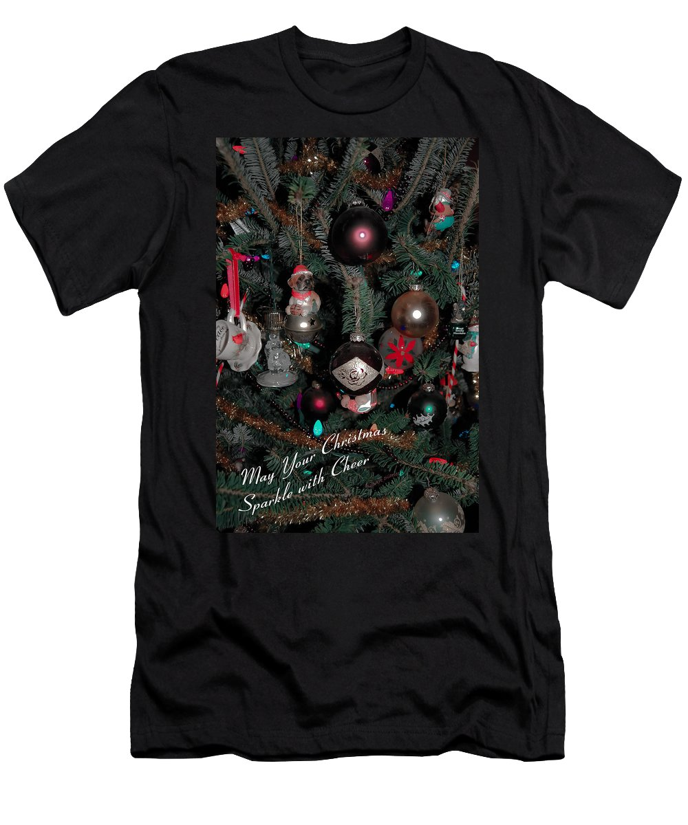 Christmas Men's T-Shirt (Athletic Fit) featuring the digital art Ornamental by DigiArt Diaries by Vicky B Fuller