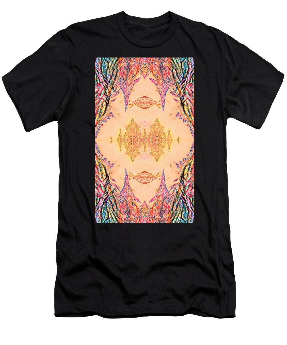 Beauty Men's T-Shirt (Athletic Fit) featuring the digital art Ornamented Beauty by Radoslav Georgiev