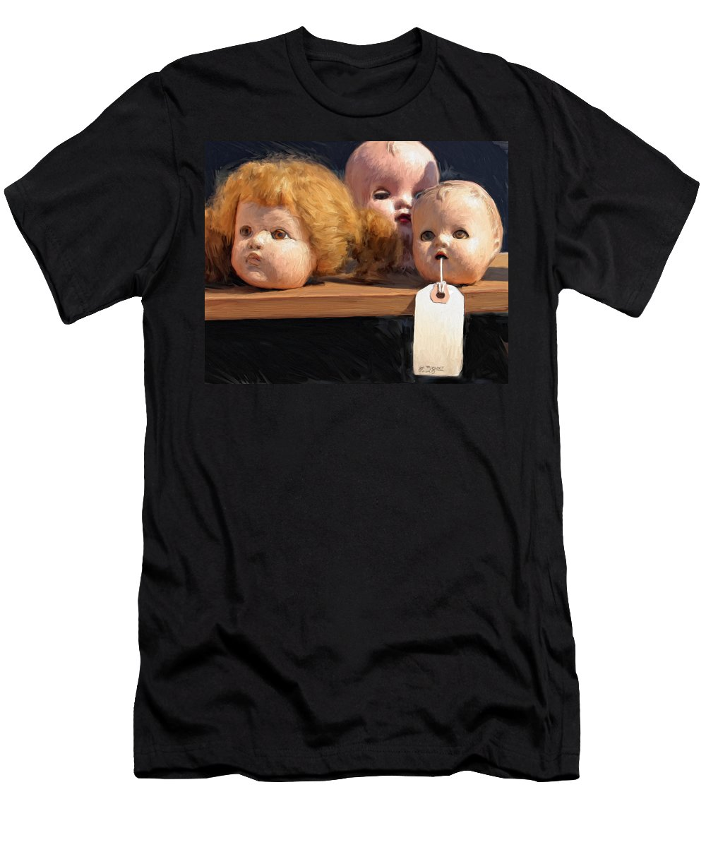 Doll Heads Men's T-Shirt (Athletic Fit) featuring the painting Orphans by Dominic Piperata