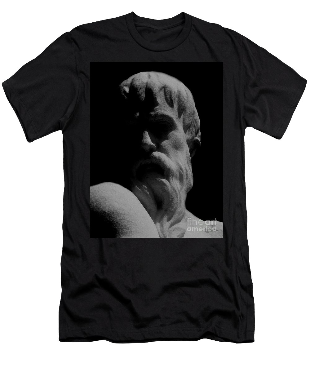 Black And White Men's T-Shirt (Athletic Fit) featuring the photograph Orpheus Looks Back by RC DeWinter