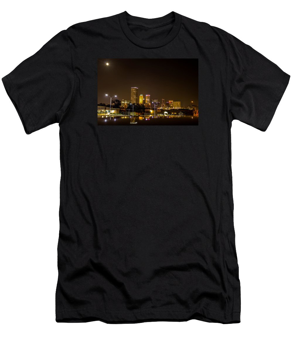 Beau Ty Photography Men's T-Shirt (Athletic Fit) featuring the photograph Tulsa - Our World by Tyler Pilkington