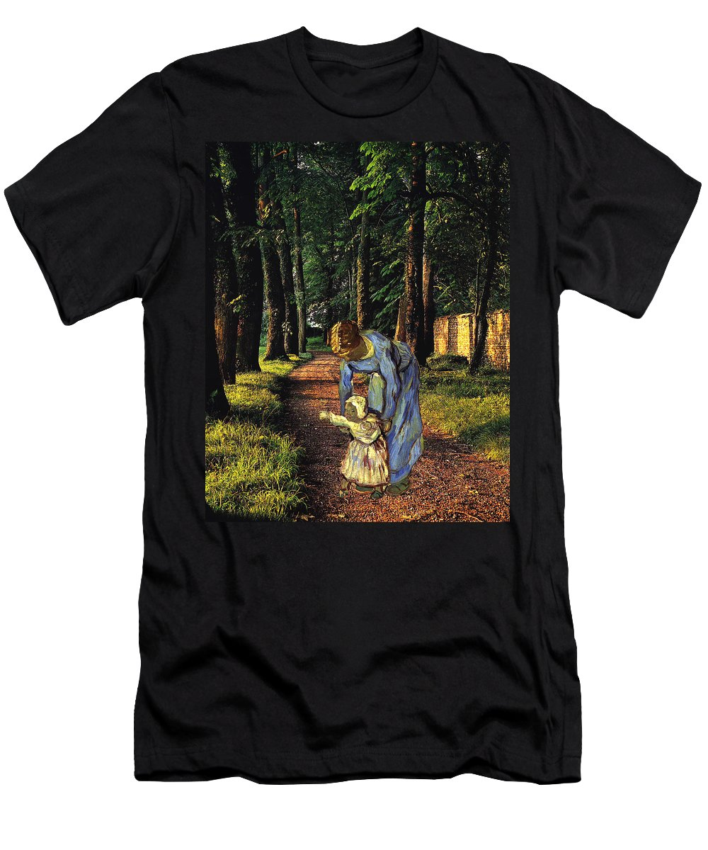 Collage Men's T-Shirt (Athletic Fit) featuring the digital art Out For A Walk by John Vincent Palozzi
