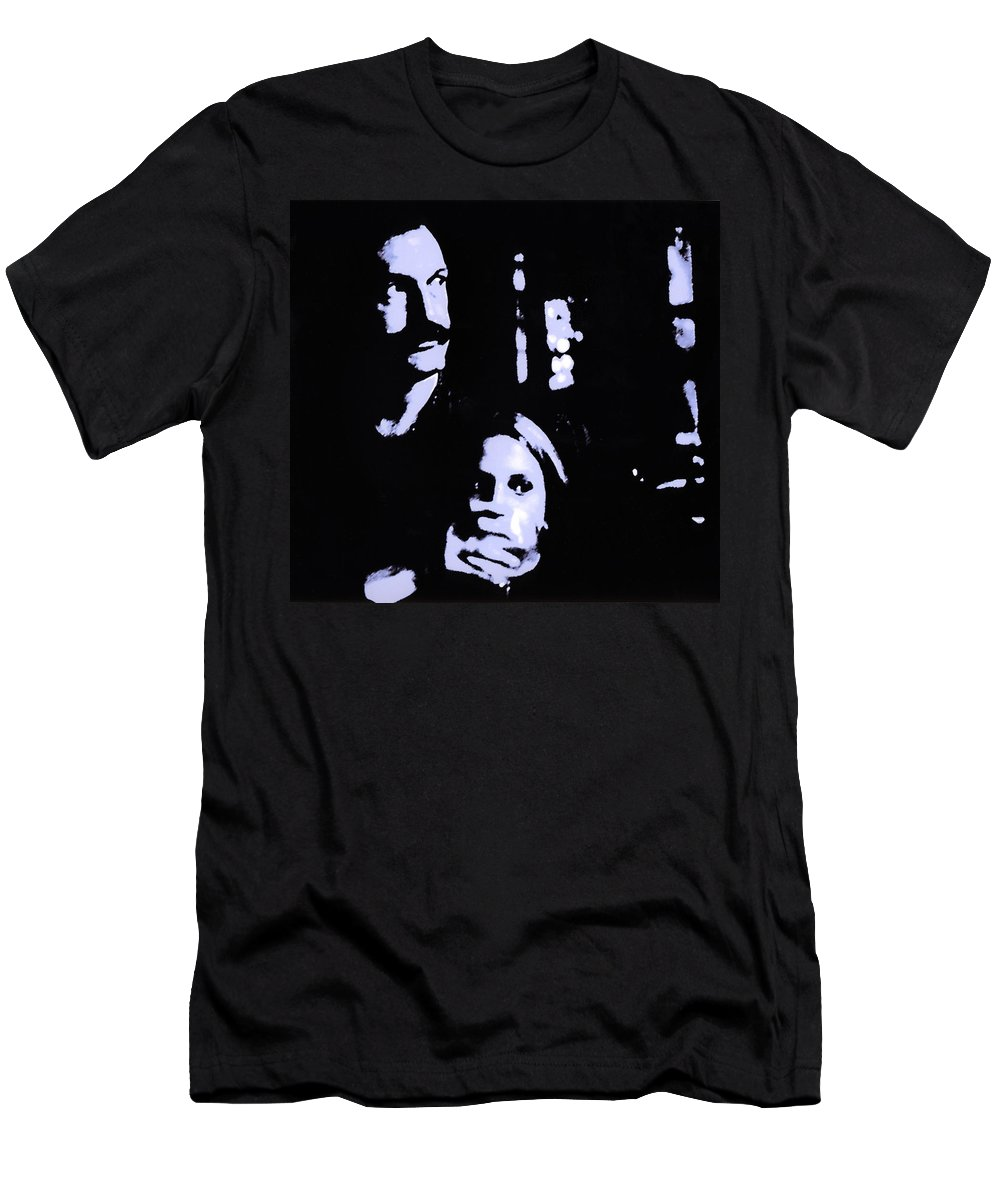 Scary Men's T-Shirt (Athletic Fit) featuring the photograph Out Of The Dark by Madeline Ellis