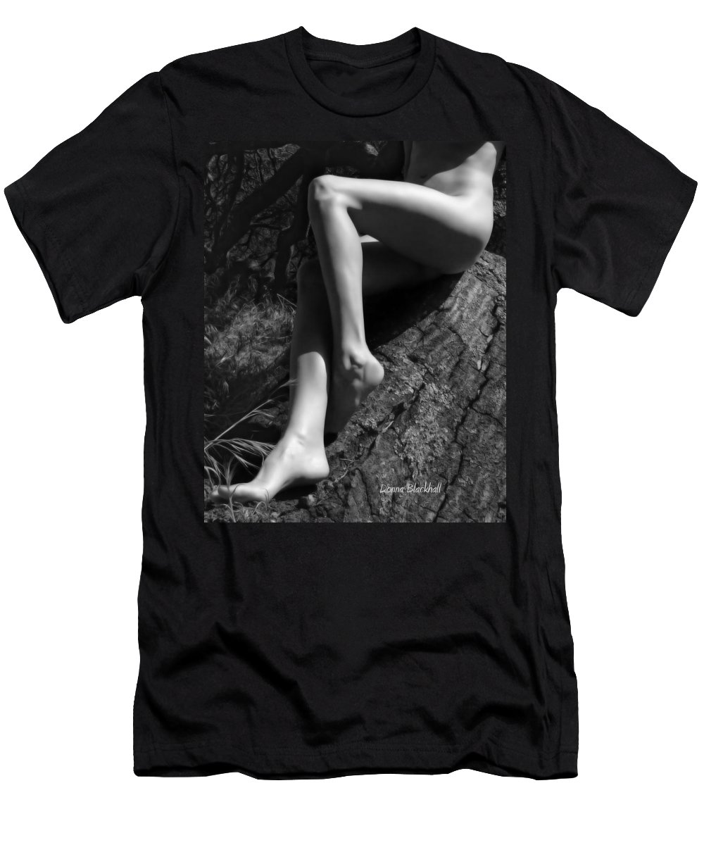 Nude Men's T-Shirt (Athletic Fit) featuring the photograph Out On A Limb by Donna Blackhall