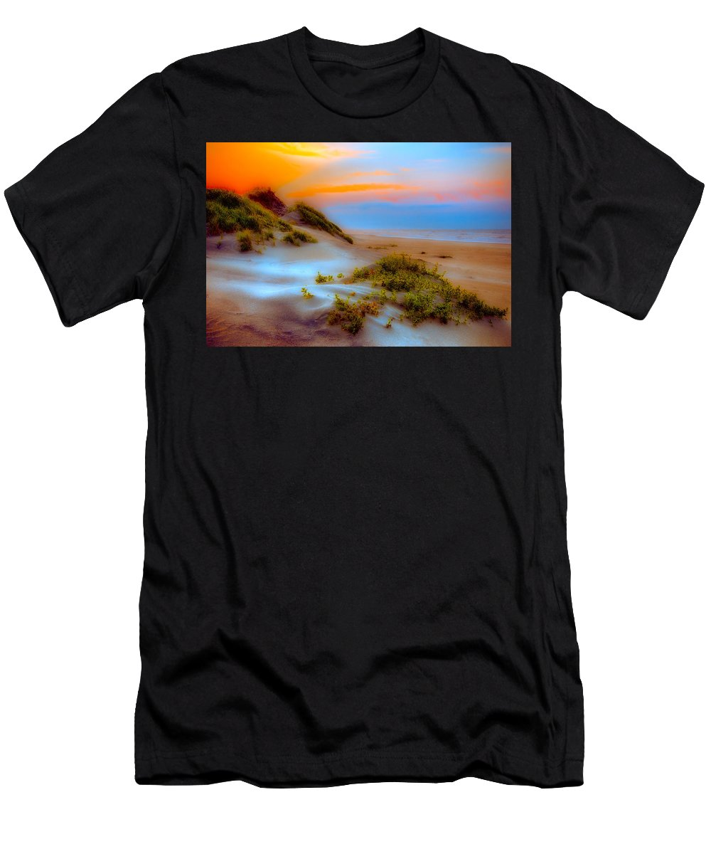 North Carolina Men's T-Shirt (Athletic Fit) featuring the photograph Outer Banks Soft Dune Sunrise Fx2 by Dan Carmichael